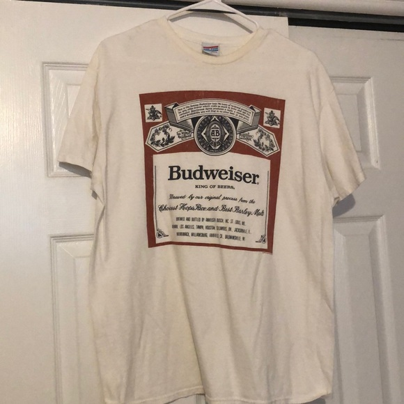 Junk Food Clothing Tops - Budweiser oversized size M tee